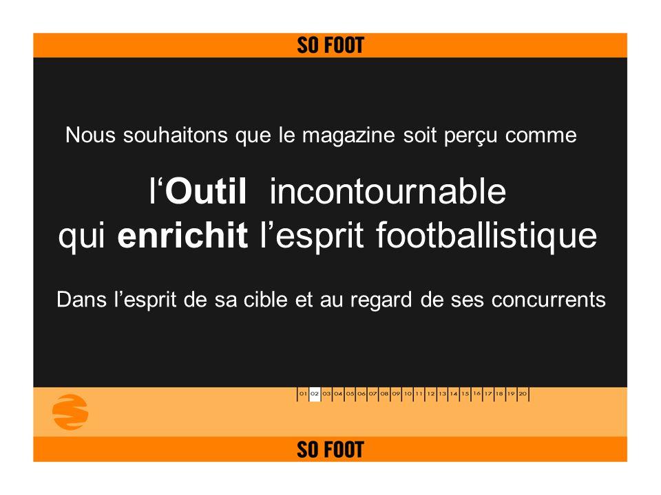 lOutil incontournable qui enrichit lesprit footballistique Nous souhaitons que le magazine soit perçu comme Dans lesprit de sa cible et au regard de s