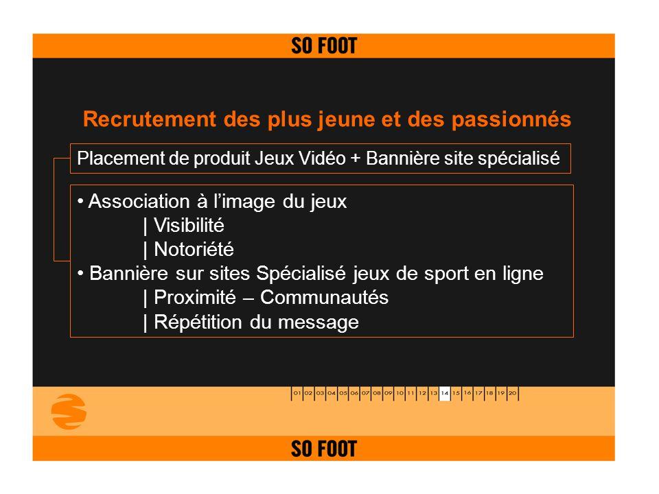 Placement de produit Jeux Vidéo + Bannière site spécialisé Association à limage du jeux   Visibilité   Notoriété Bannière sur sites Spécialisé jeux de