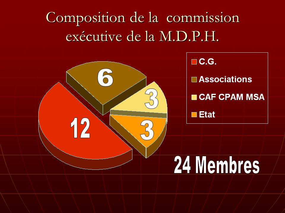 Composition de la commission exécutive de la M.D.P.H.
