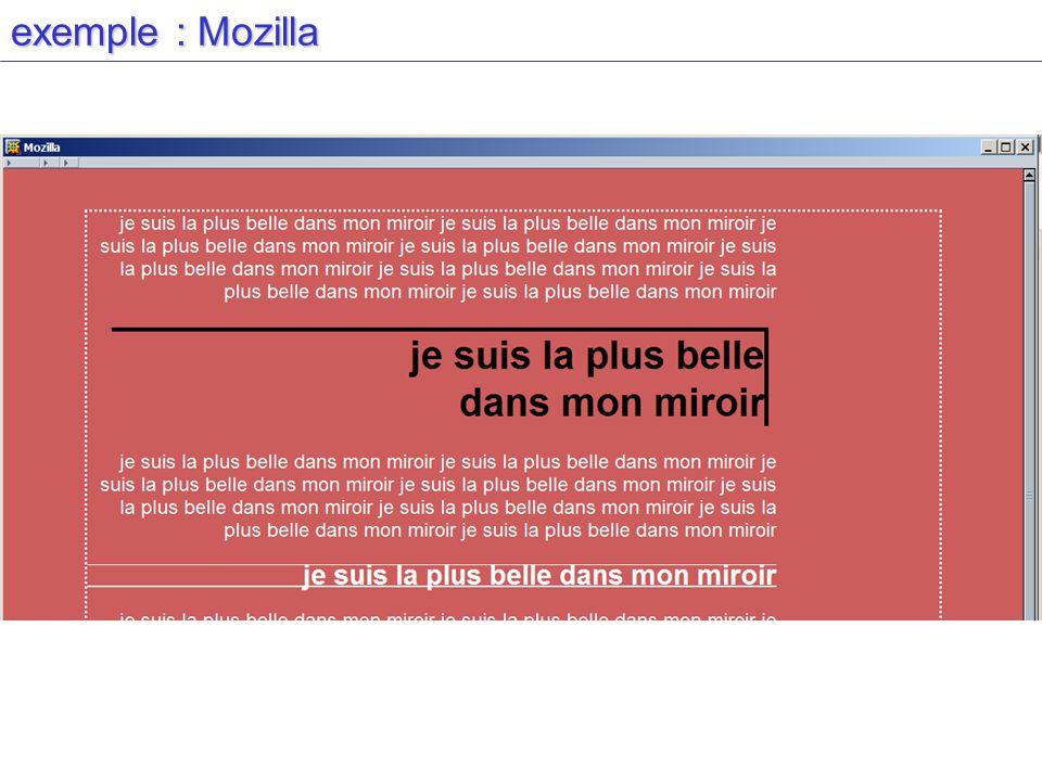 exemple : Mozilla