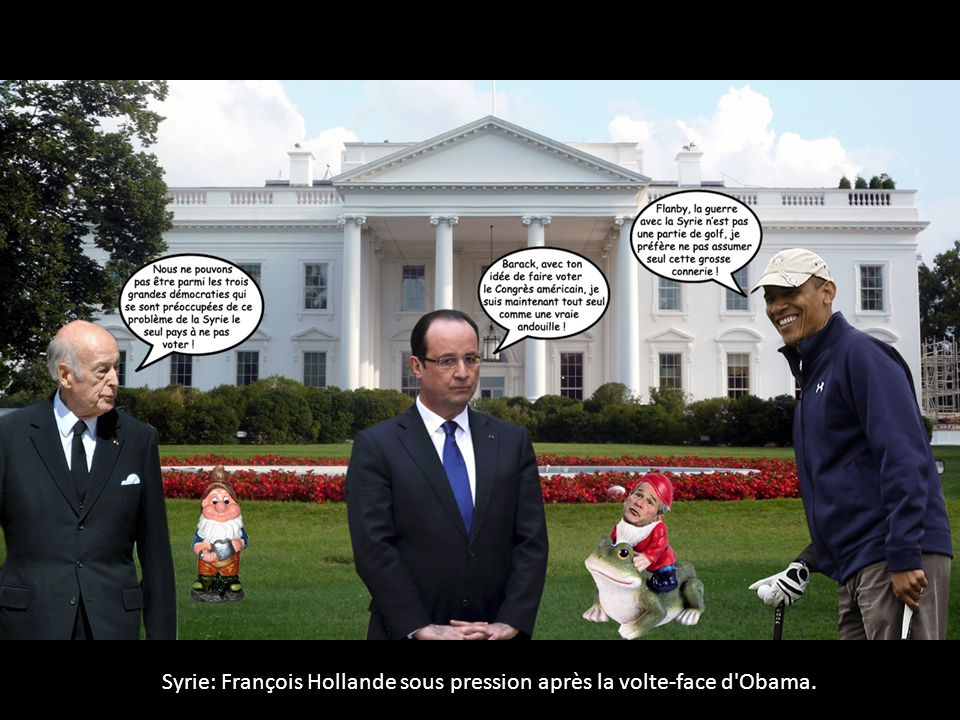 Syrie: François Hollande sous pression après la volte-face d'Obama.