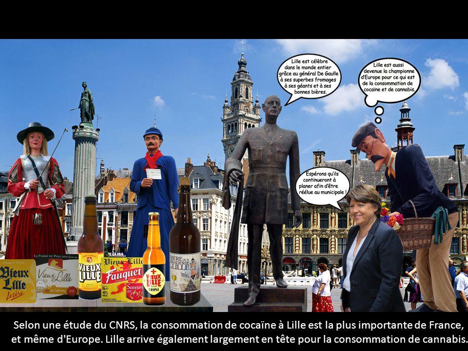 Selon une étude du CNRS, la consommation de cocaïne à Lille est la plus importante de France, et même d'Europe. Lille arrive également largement en tê