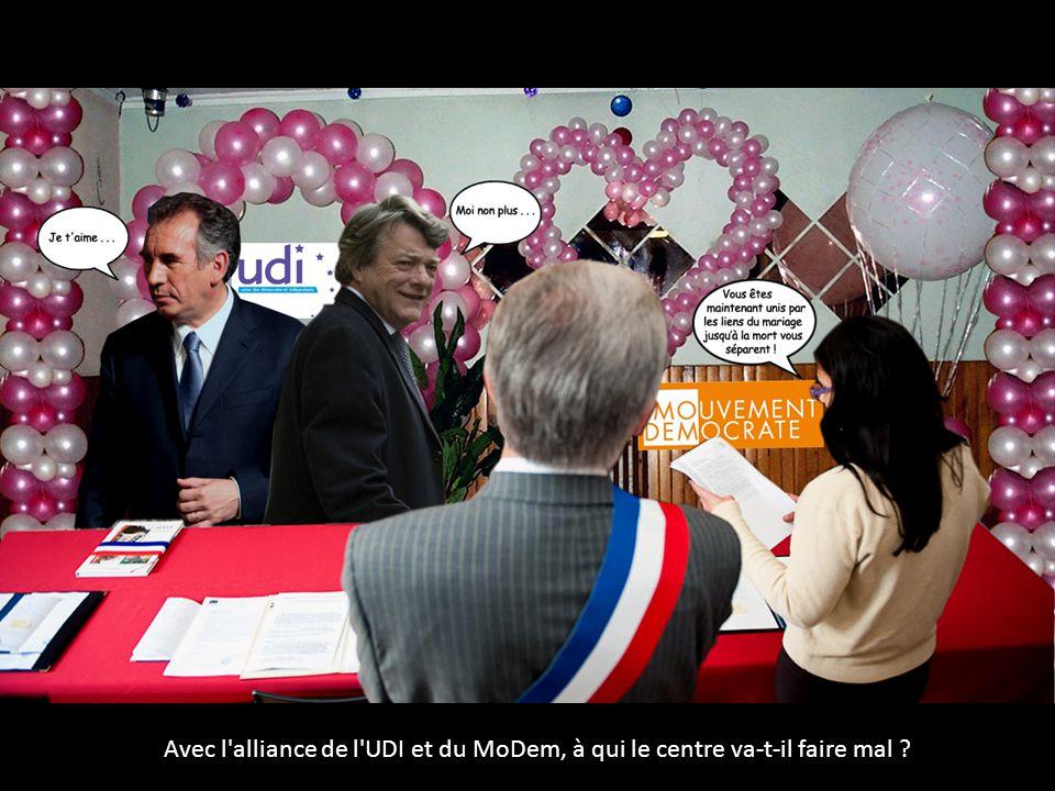 Avec l alliance de l UDI et du MoDem, à qui le centre va-t-il faire mal ?