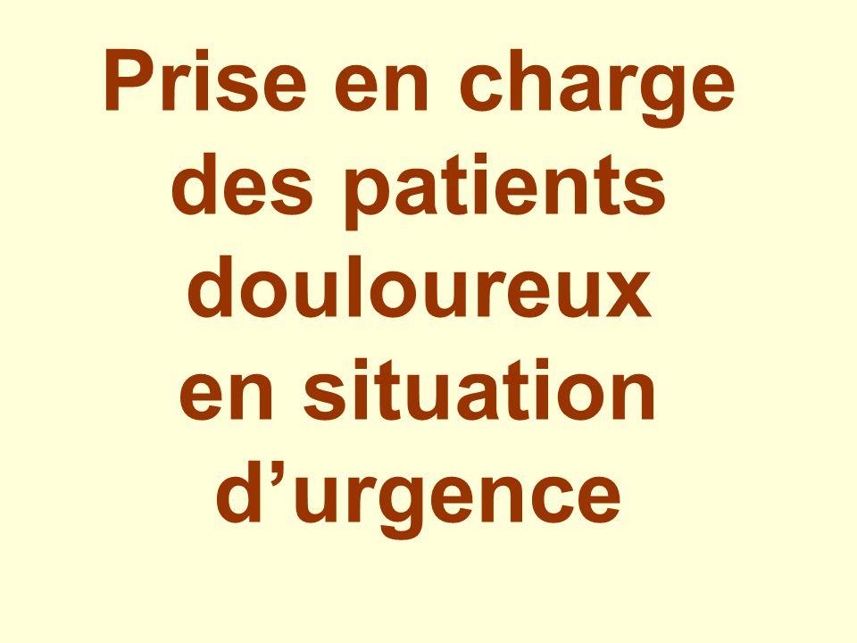 Prise en charge des patients douloureux en situation durgence