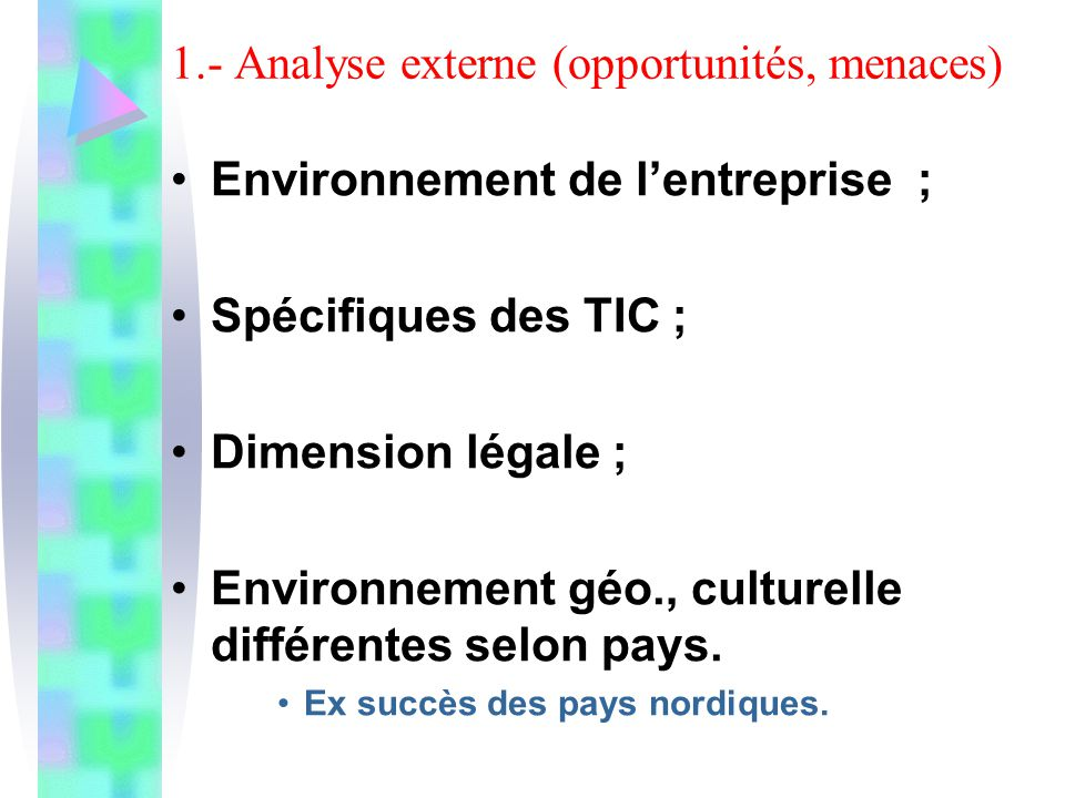 2.- Analyse interne (forces et faiblesses) Image de lE .