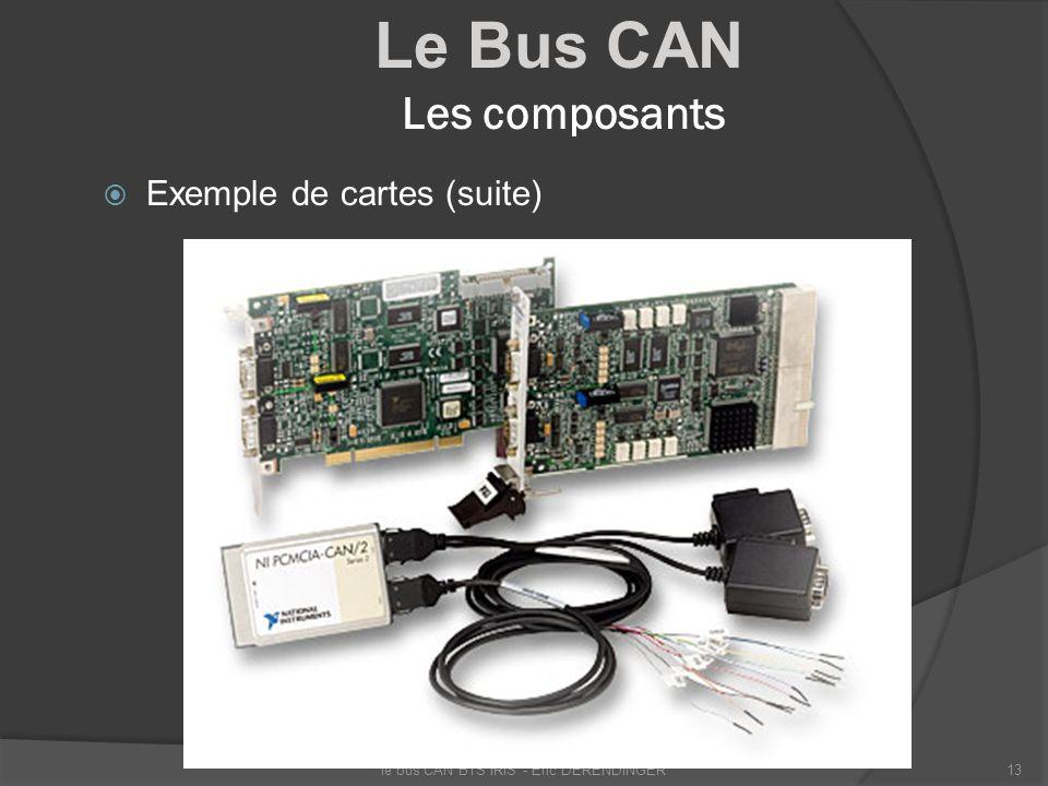 Le Bus CAN Les composants Exemple de cartes (suite) le bus CAN BTS IRIS - Eric DERENDINGER13