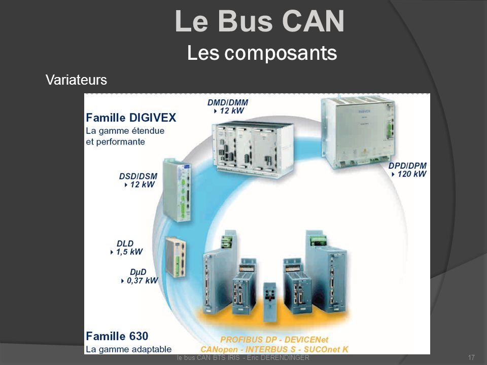 Le Bus CAN Les composants Variateurs le bus CAN BTS IRIS - Eric DERENDINGER17