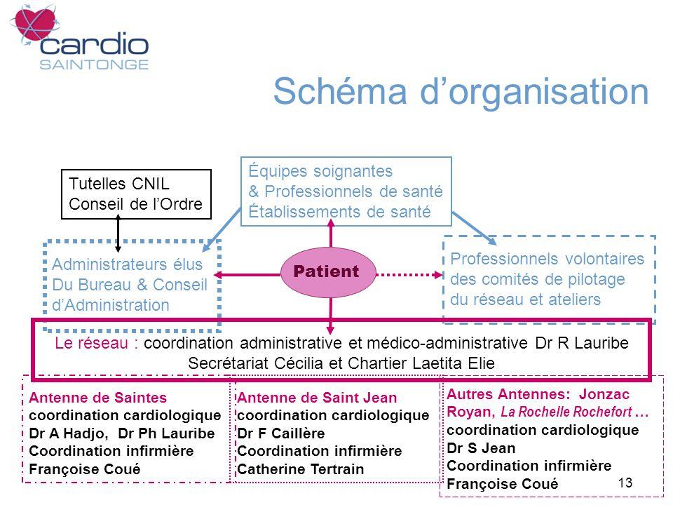 13 Schéma dorganisation Tutelles CNIL Conseil de lOrdre Équipes soignantes & Professionnels de santé Établissements de santé Professionnels volontaire