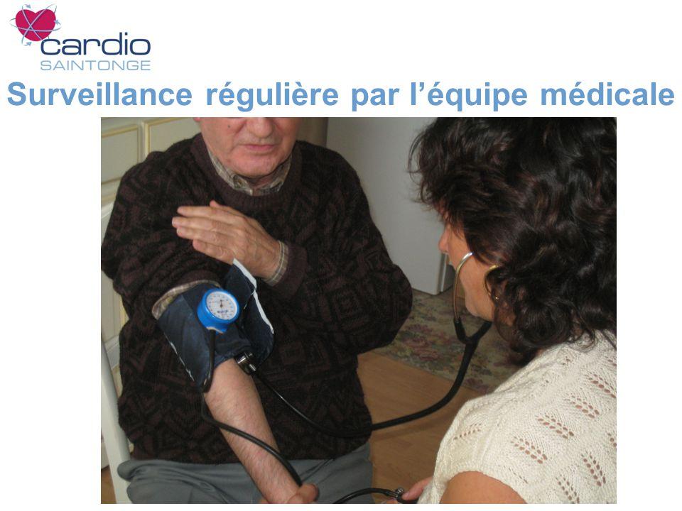 Surveillance régulière par léquipe médicale
