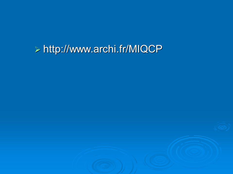 http://www.archi.fr/MIQCP http://www.archi.fr/MIQCP