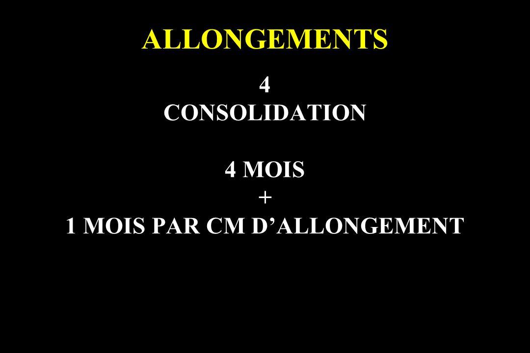 ALLONGEMENTS 4 CONSOLIDATION 4 MOIS + 1 MOIS PAR CM DALLONGEMENT