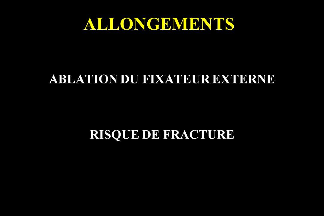 ABLATION DU FIXATEUR EXTERNE RISQUE DE FRACTURE