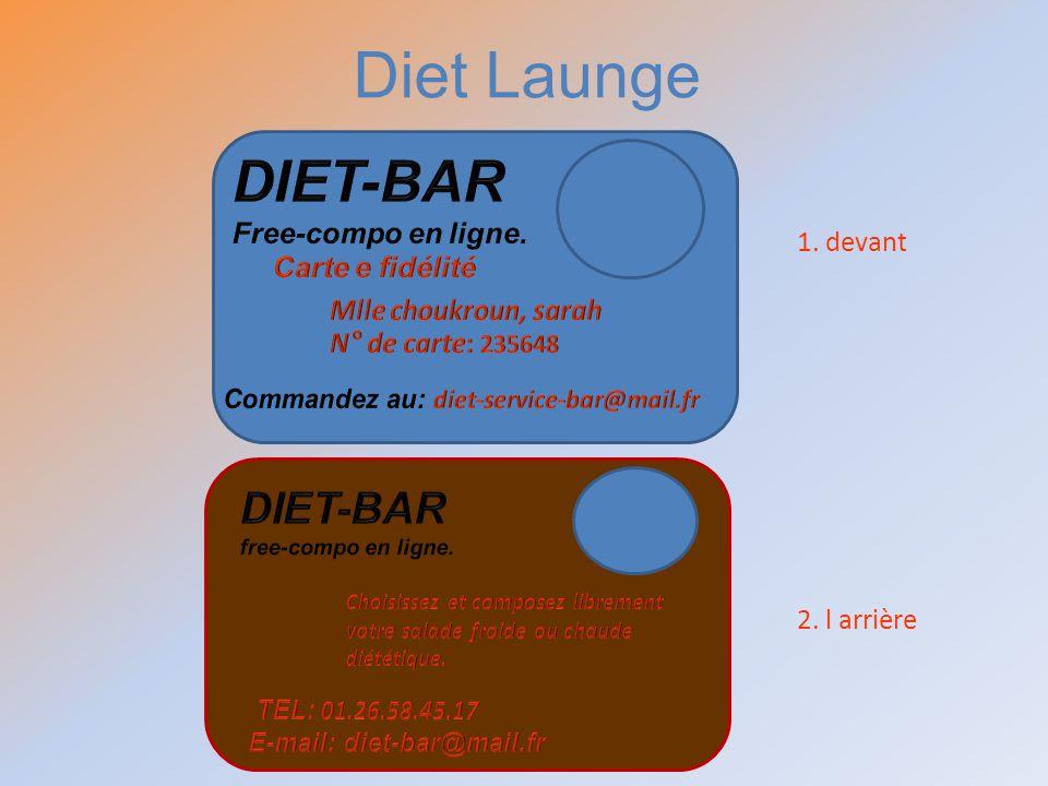 1. devant 2. l arrière Diet Launge
