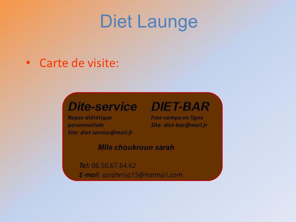 Carte de visite: Diet Launge