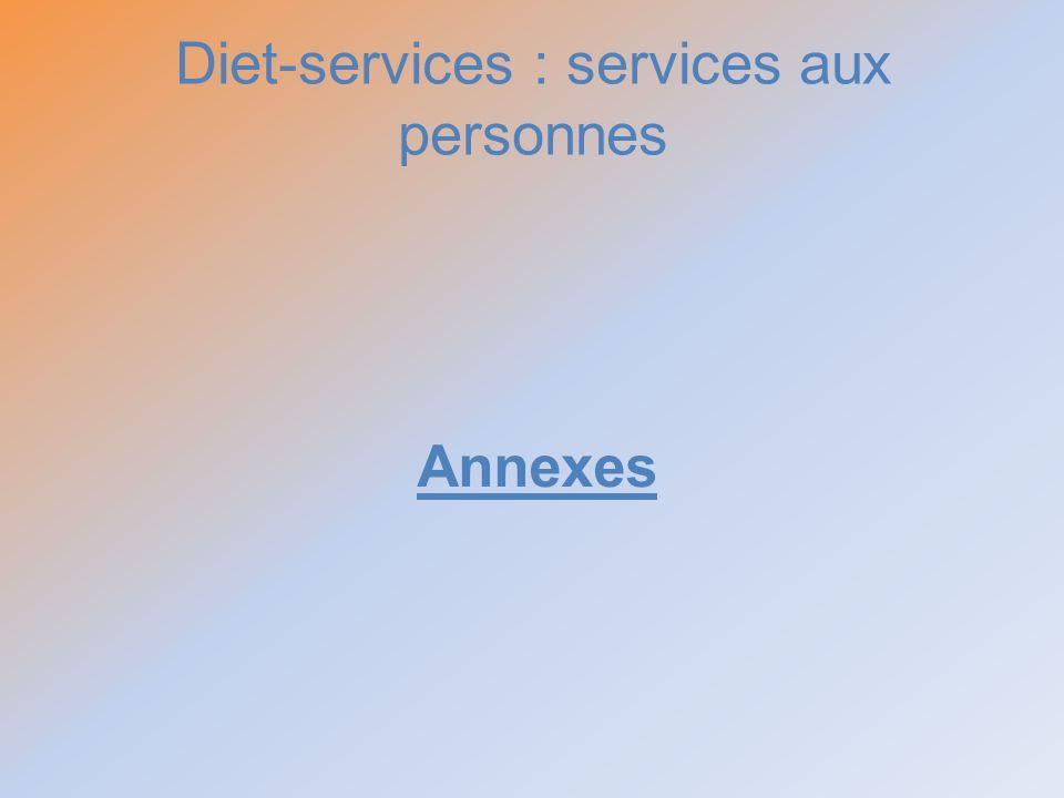 Diet-services : services aux personnes Annexes