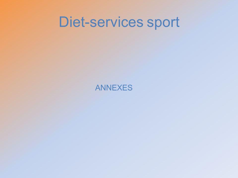 Diet-services sport ANNEXES