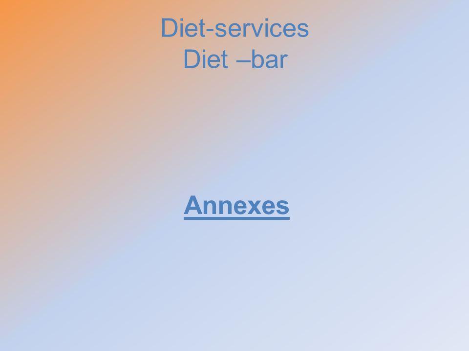 Diet-services Diet –bar Annexes