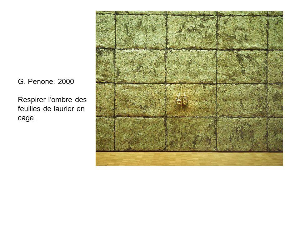 G. Penone. 2000 Respirer lombre des feuilles de laurier en cage.