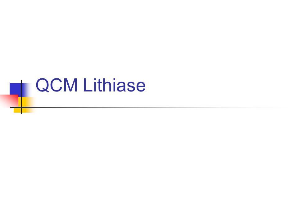 ED urologie QCM 1 Quels bilans en première intention pour un calcul .
