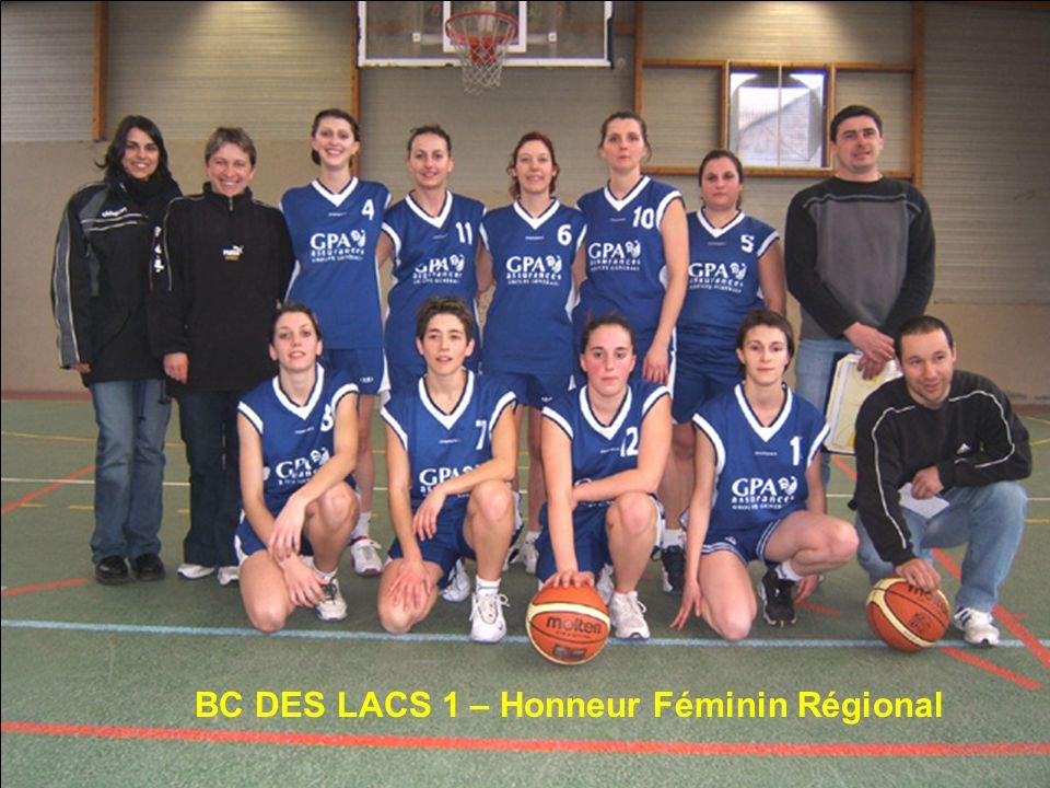 BC DES LACS 1 – Honneur Féminin Régional