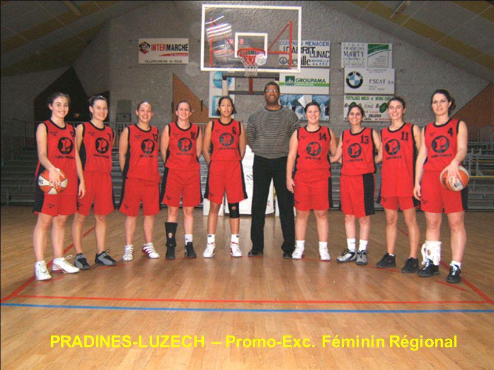 PRADINES-LUZECH – Promo-Exc. Féminin Régional
