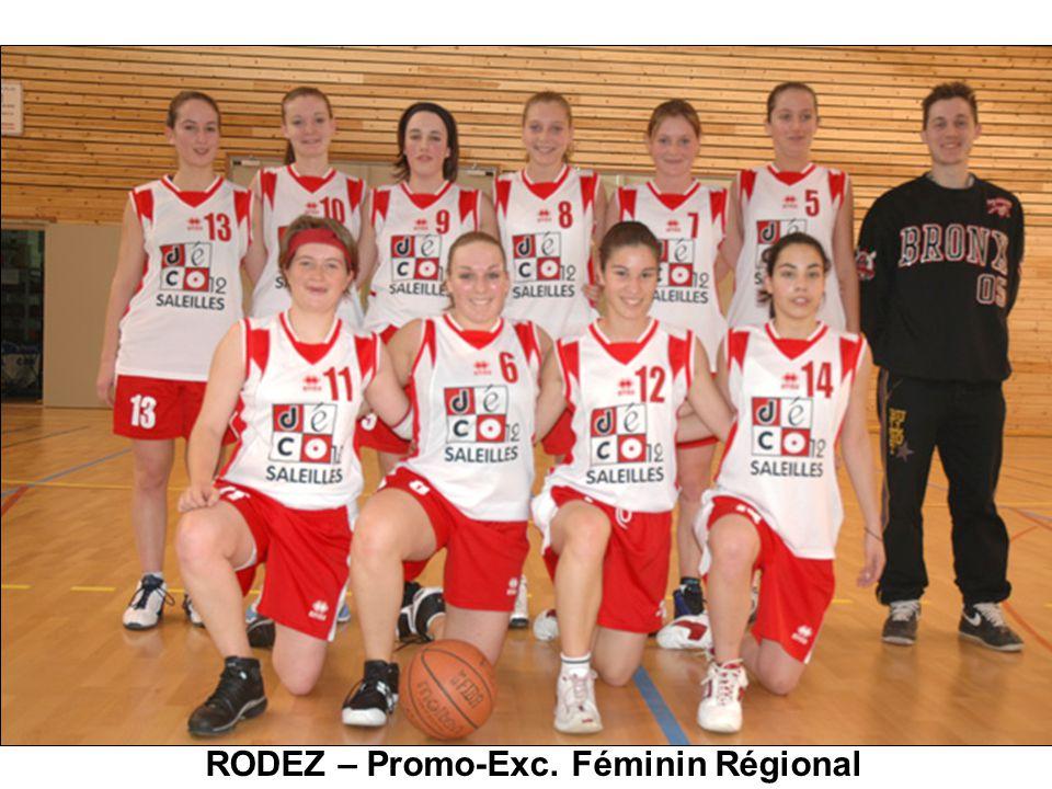 RODEZ – Promo-Exc. Féminin Régional