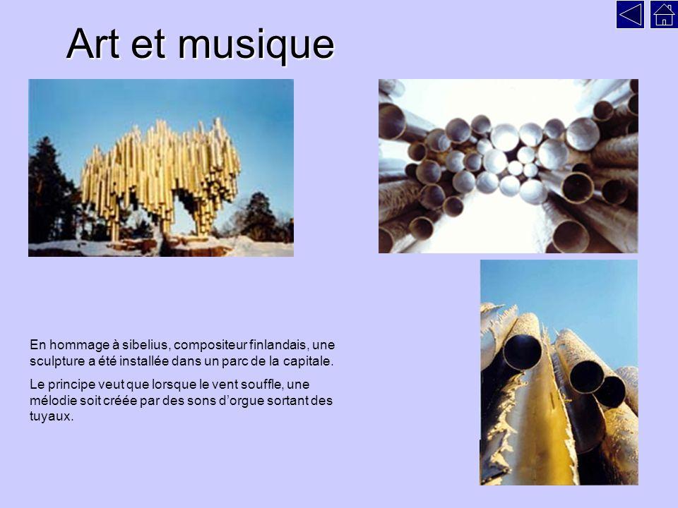 Art et musique En hommage à sibelius, compositeur finlandais, une sculpture a été installée dans un parc de la capitale.