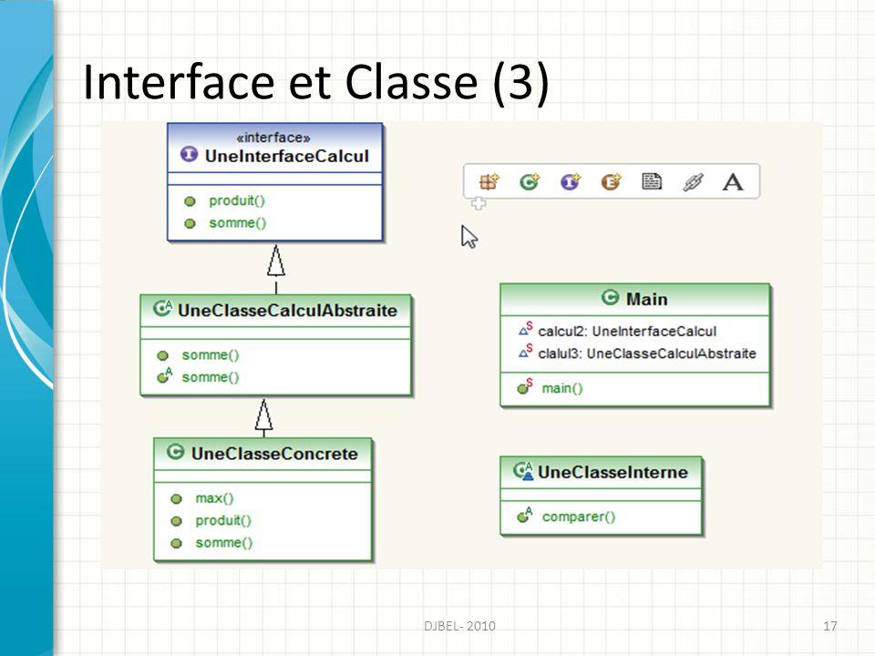 Interface et Classe (3) 17DJBEL- 2010