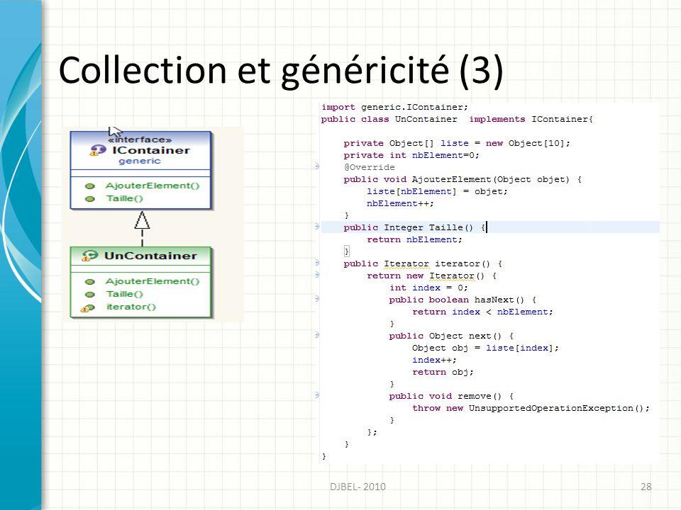 Collection et généricité (3) DJBEL- 201028