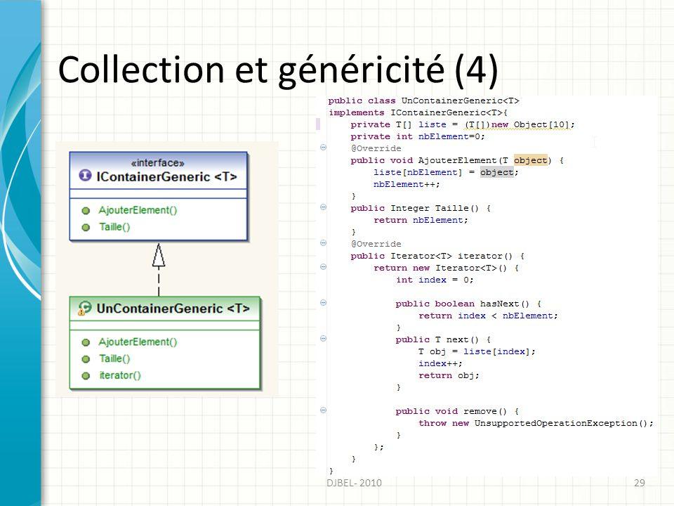 Collection et généricité (4) DJBEL- 201029
