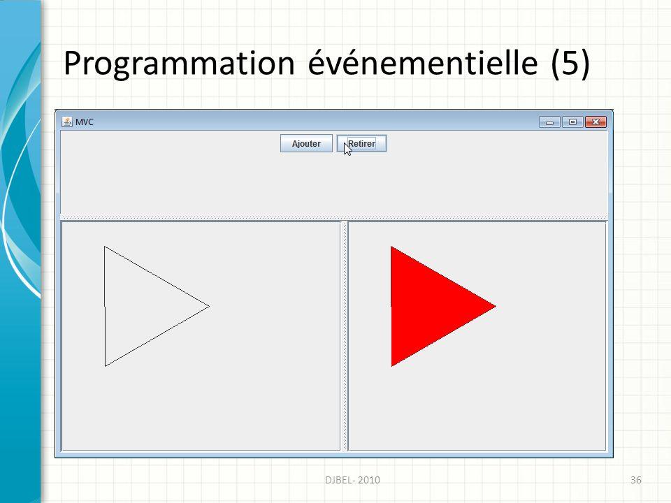 Programmation événementielle (5) 36DJBEL- 2010