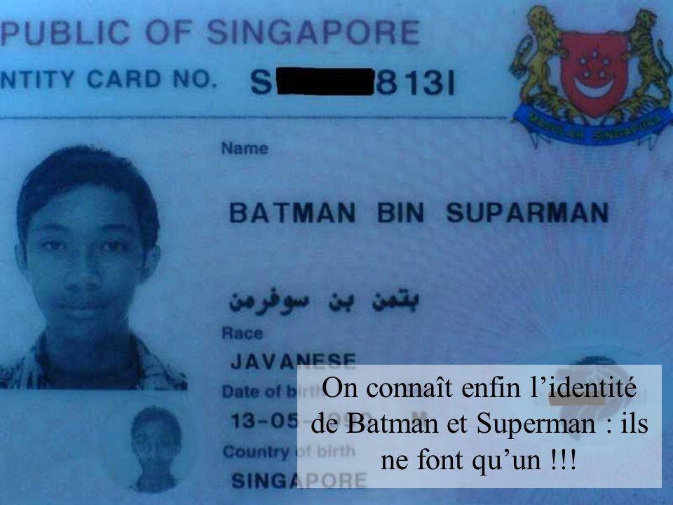On connaît enfin lidentité de Batman et Superman : ils ne font quun !!!