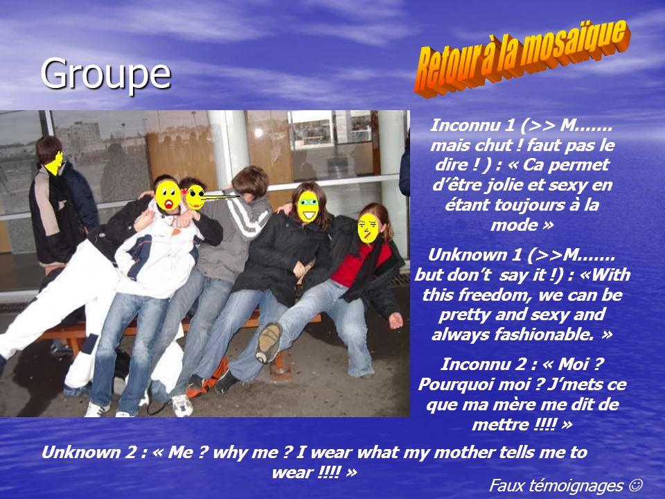 Groupe Inconnu 1 (>> M……. mais chut . faut pas le dire .