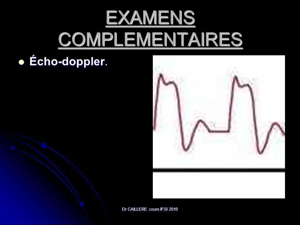 Dr CAILLERE cours IFSI 2010 EXAMENS COMPLEMENTAIRES Écho-doppler. Écho-doppler.