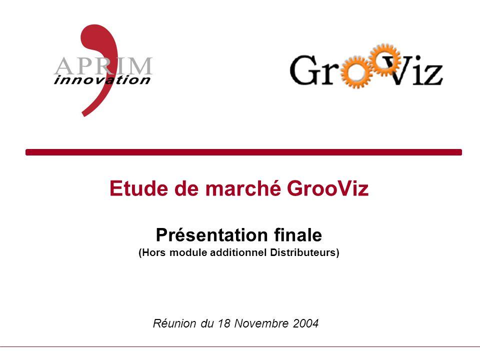 Etude de marché GrooViz Présentation finale (Hors module additionnel Distributeurs) Réunion du 18 Novembre 2004