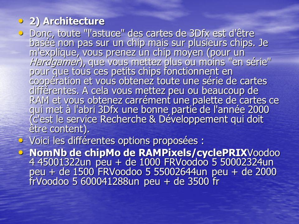 2) Architecture 2) Architecture Donc, toute