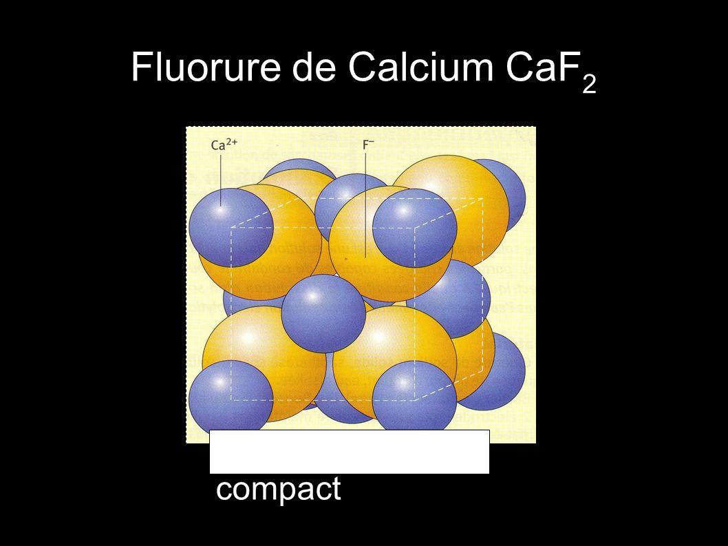 Fluorure de Calcium CaF 2 CaF 2 modèle compact