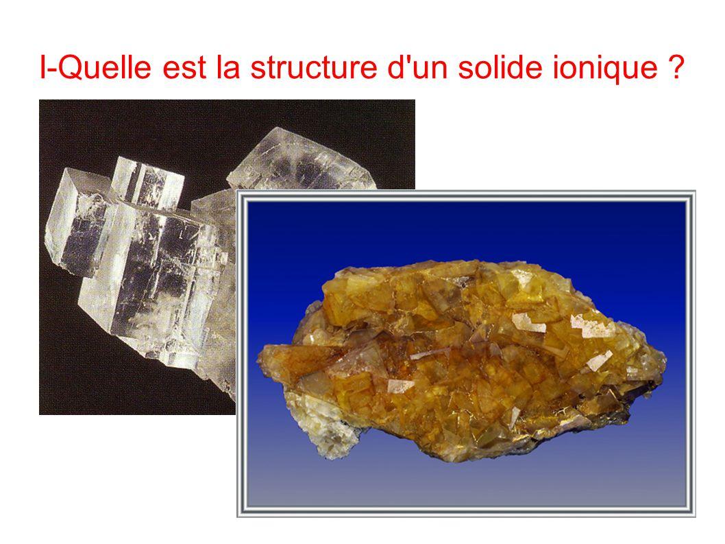 I-Quelle est la structure d un solide ionique ?
