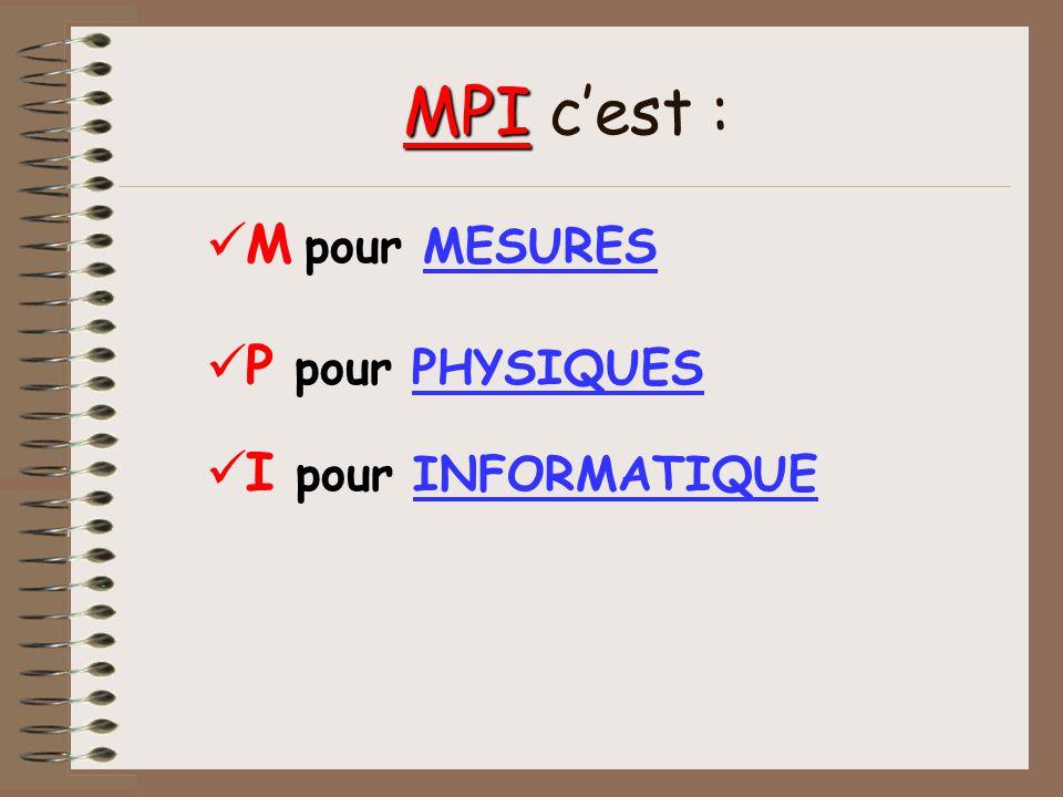Présentation de loption MPI Au lycée Émile Zola