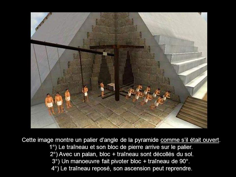 La rampe intérieure a une pente de 7°.Elle est à deux étages.