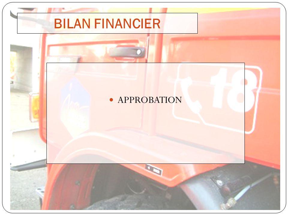 BILAN FINANCIER APPROBATION