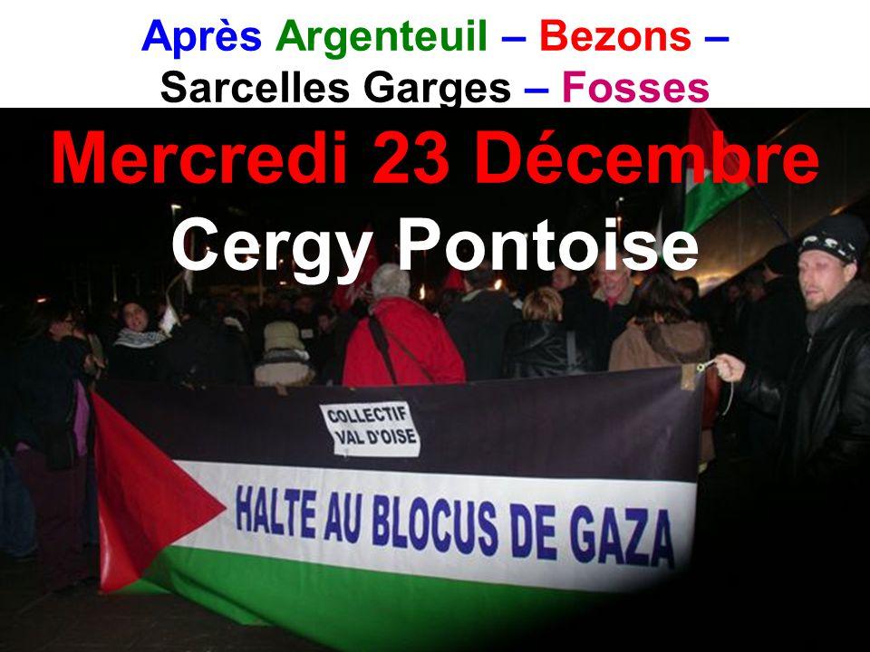 Après Argenteuil – Bezons – Sarcelles Garges – Fosses Mercredi 23 Décembre Cergy Pontoise