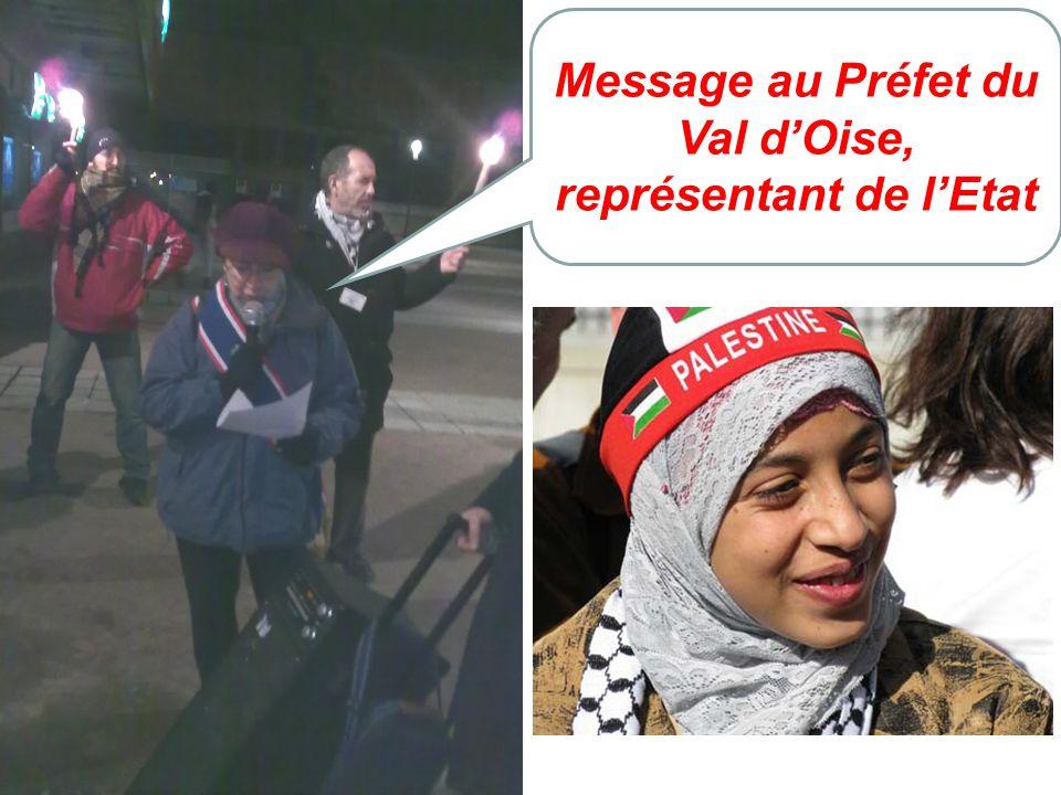 Message au Préfet du Val dOise, représentant de lEtat