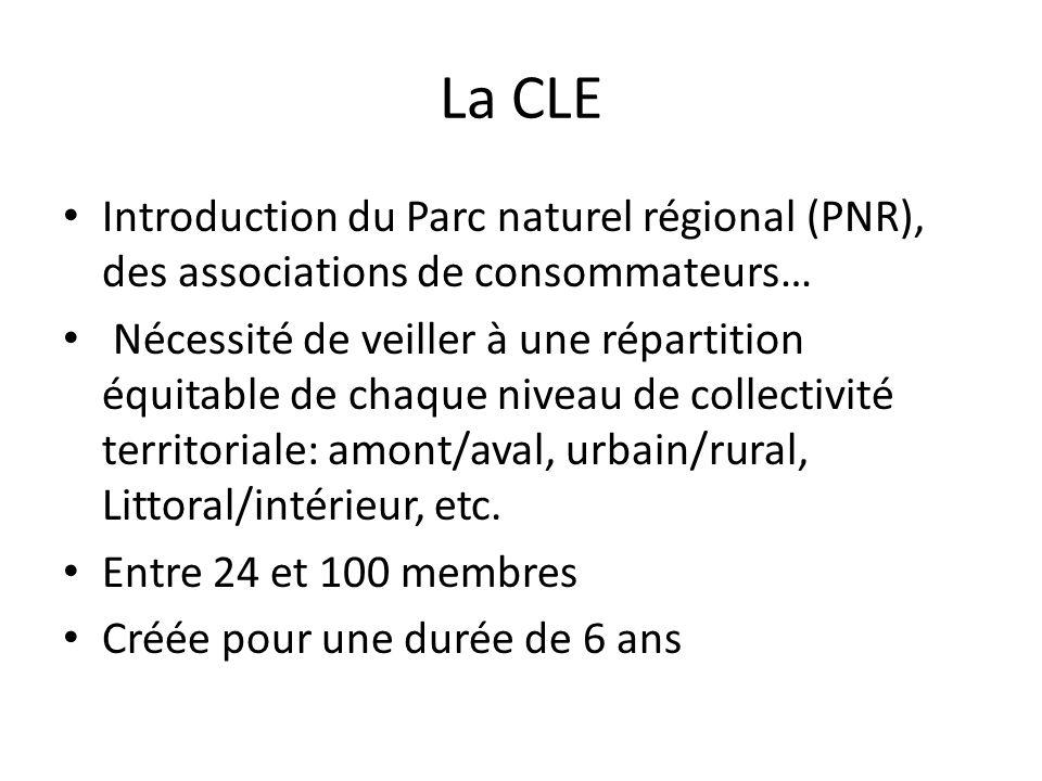 La CLE Introduction du Parc naturel régional (PNR), des associations de consommateurs… Nécessité de veiller à une répartition équitable de chaque nive