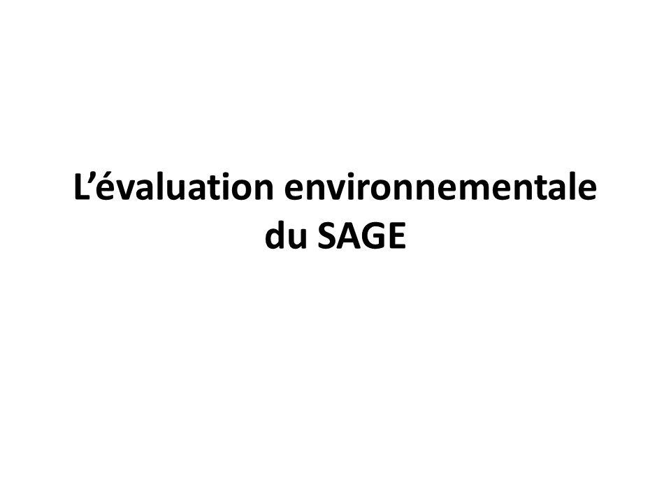 Lévaluation environnementale du SAGE