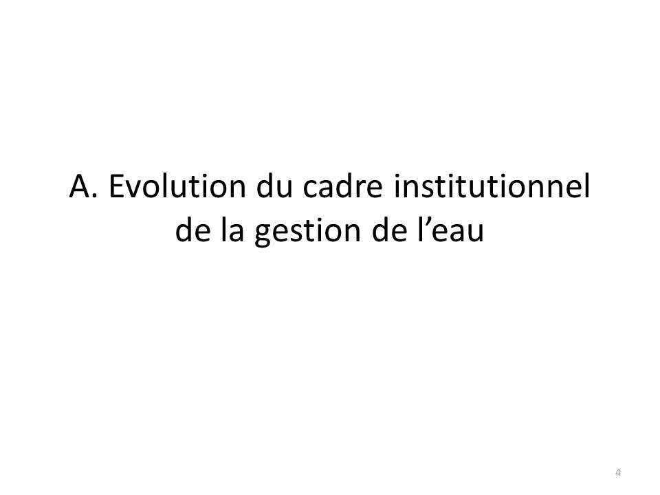A. Evolution du cadre institutionnel de la gestion de leau 4