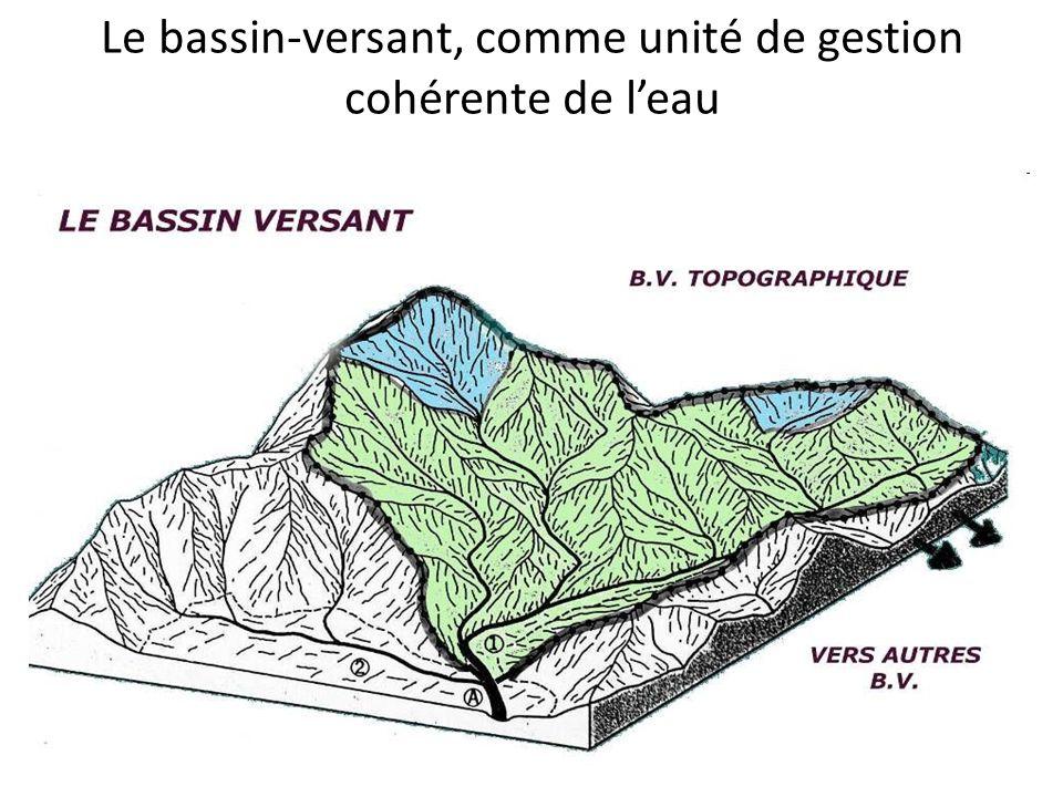 Le bassin-versant, comme unité de gestion cohérente de leau Définition