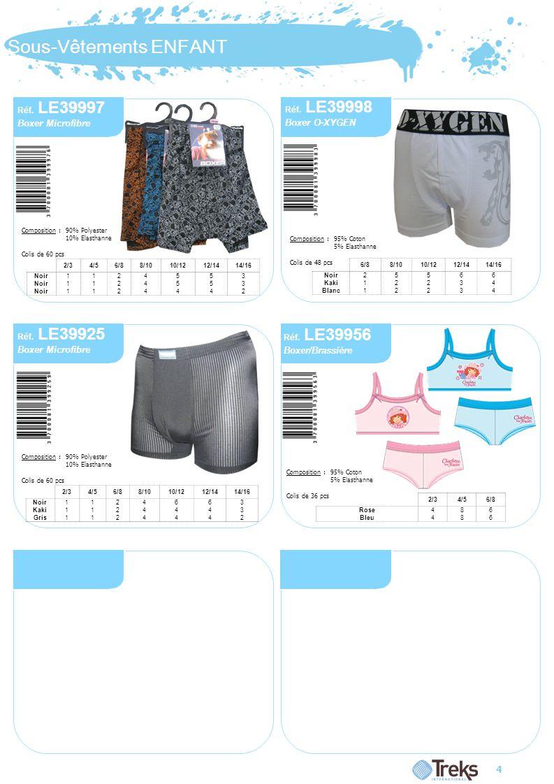 Sous-Vêtements ENFANT 4 Réf.