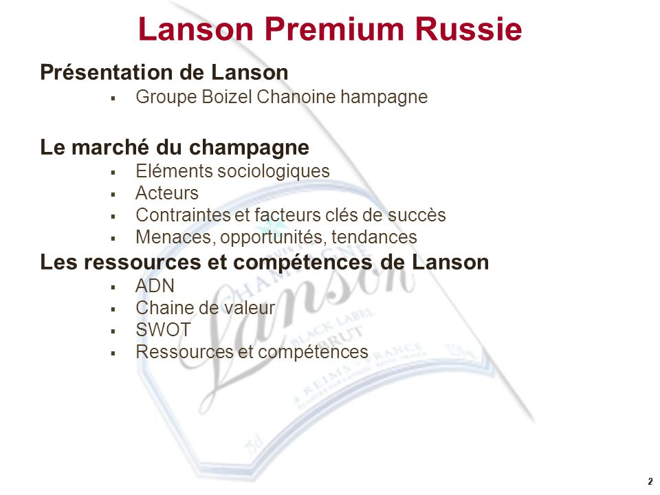 32 Accessible Luxe Glamour Expertise TERRITOIRES DU CHAMPAGNE Analyse concurrentielle