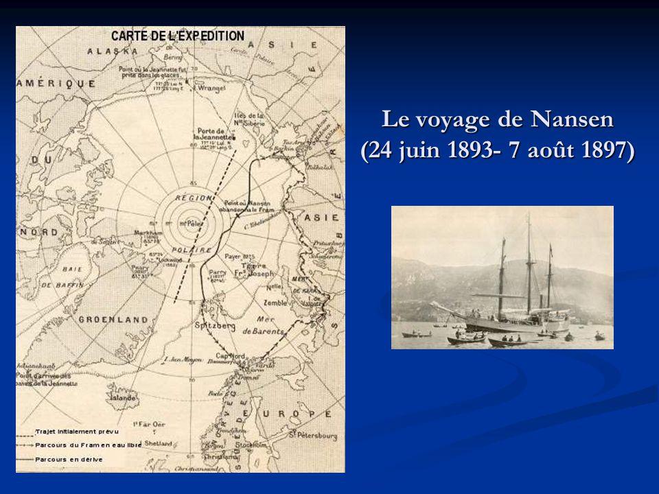 Le voyage de Nansen (24 juin 1893- 7 août 1897)
